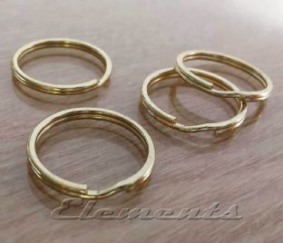 25mm Gold Tone Steel Split Rings BM092